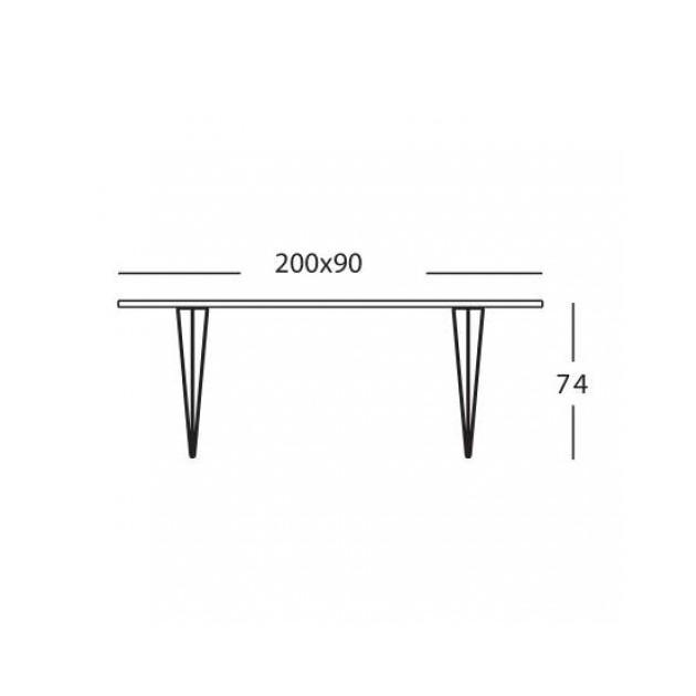 medidas Mesa Tavolo XZ3 rectangular