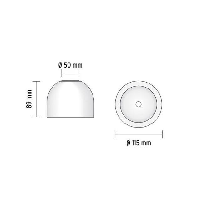 Lámpara Wan C / W aplique Flos medidas