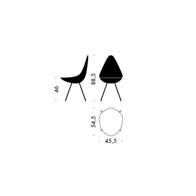 Silla Drop tapizada de Fritz Hansen en Moises Showroom 10