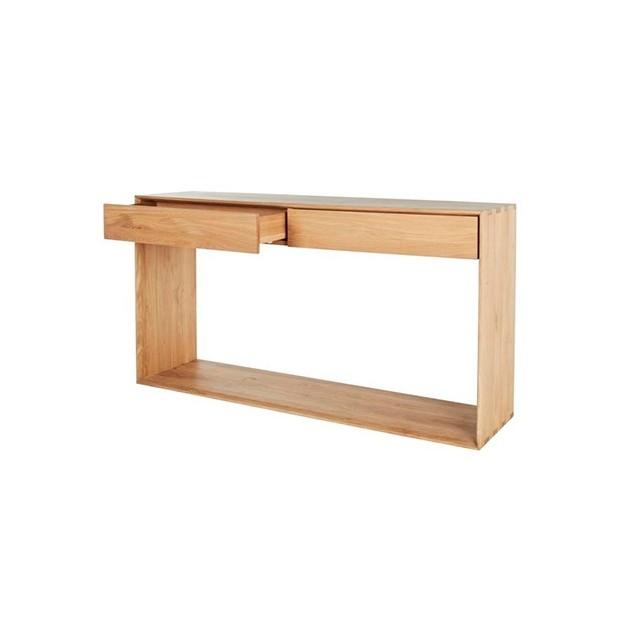 Consola Nordic dos cajones extraibles fabricado en roble medidas 160x40x85 de Ethnicraft