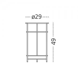 dimensiones paragüero Mobles 114 Platea