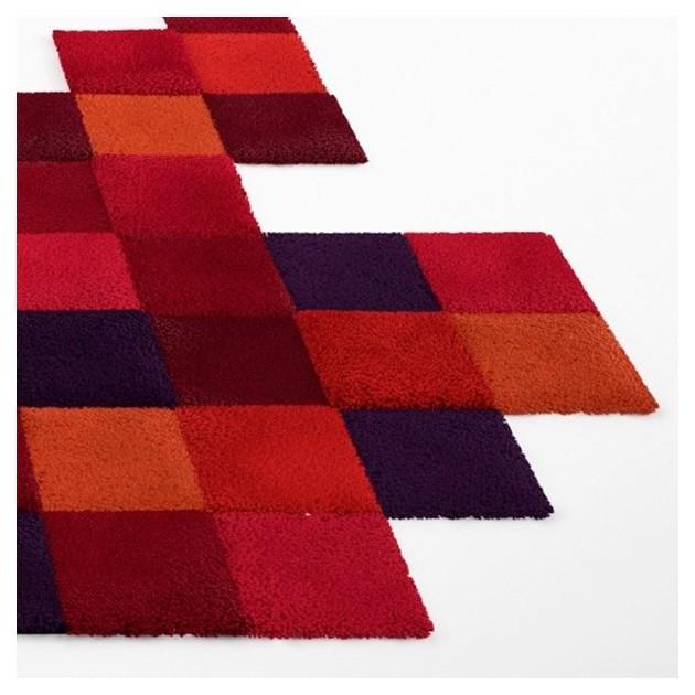 detalle alfombra Do Lo Rez 1 roja Nanimarquina