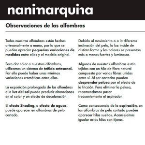 garantía Nanimarquina Alfombra Do Lo Rez 2