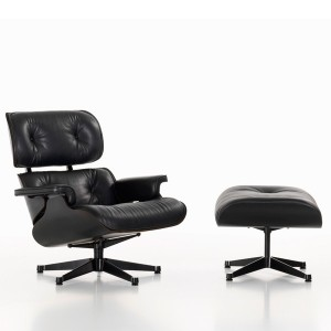 Lounge Chair y Ottoman negra - Vitra