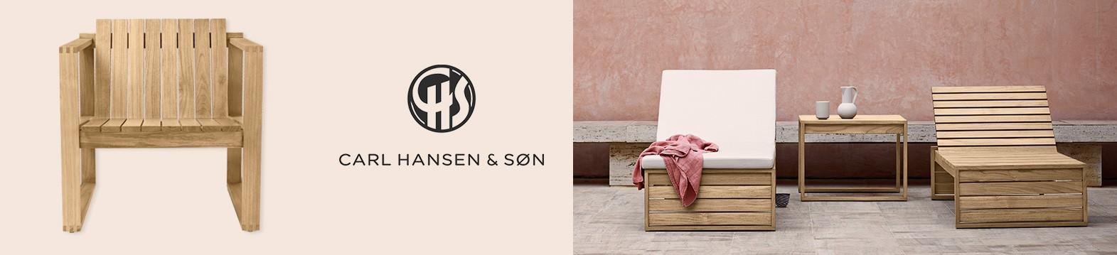 Traslada la calidez al exterior con la colección de exterior Carl Hansen & Son. Venta online en Moisés Showroom
